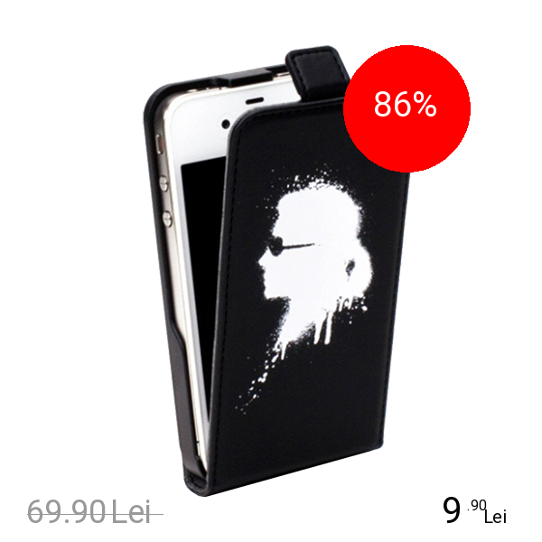 Karl Lagerfeld Husa Flip Graffiti Negru APPLE iPhone 5s, iPhone SE