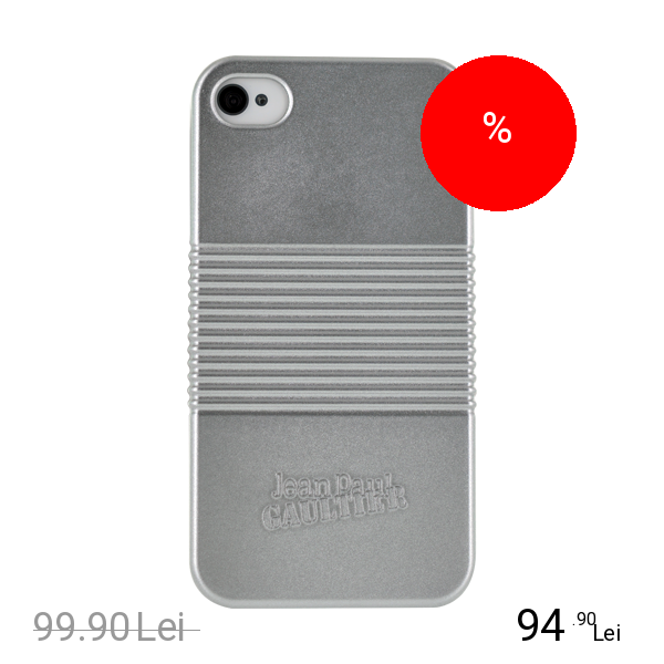 Jean Paul Gaultier Husa Capac spate SILVER BOX Gri APPLE iPhone 4s