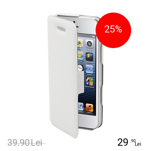 Muvit Husa Agenda Alb APPLE iPhone 5s, iPhone SE