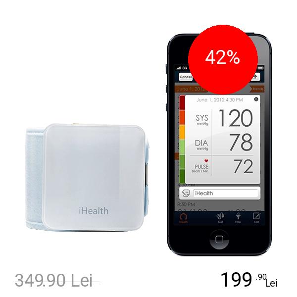 Ihealth Wireless Dispozitiv monitorizare a tensiunii arteriale Alb