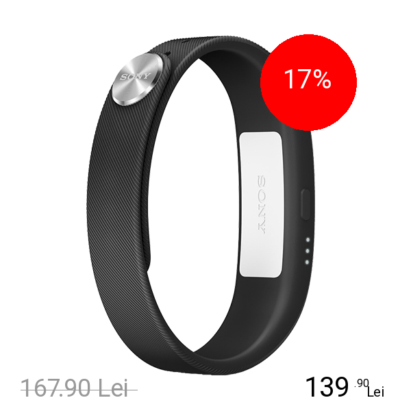 Sony SmartBand Wireless Bratara Fitness Negru