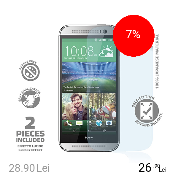 Celly Folie De Protectie Transparenta Transparent HTC One M8