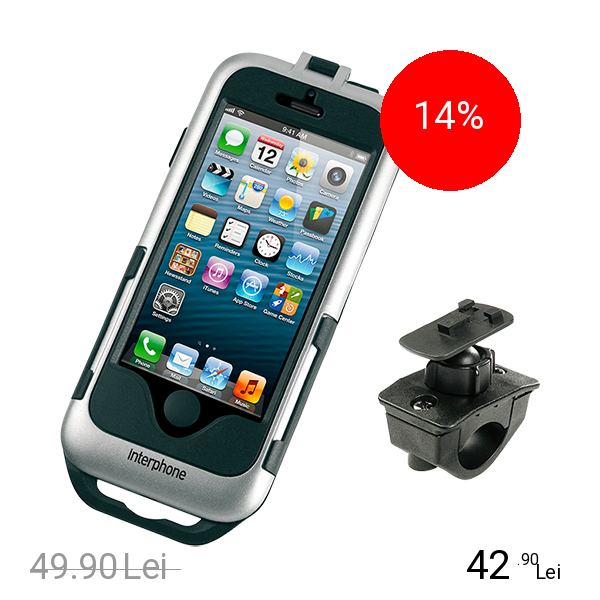 Interphone Suport Moto APPLE iPhone 5/5s Gri