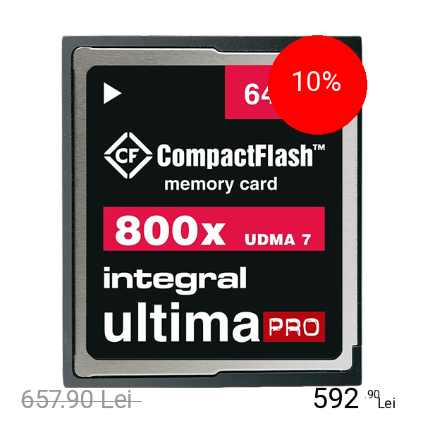 Integral Card Memorie Compact Flash UltimaPRO 64GB title=Integral Card Memorie Compact Flash UltimaPRO 64GB