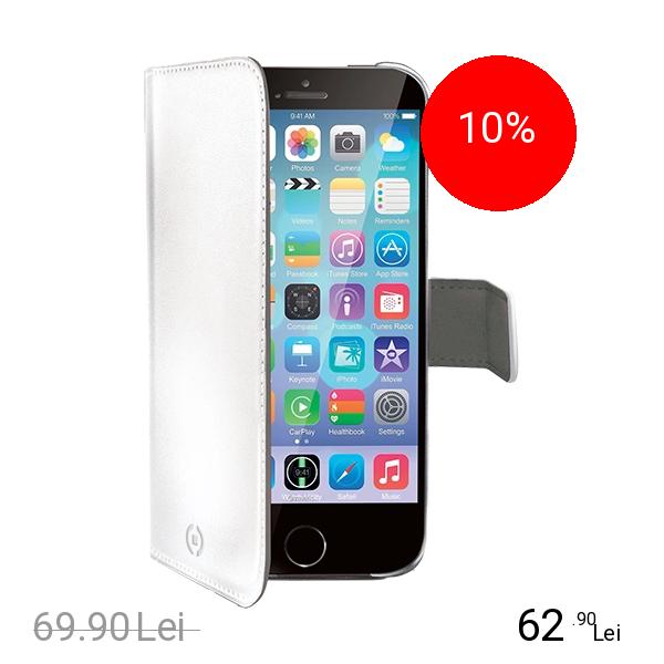 Celly Husa Agenda Alb APPLE iPhone 6, iPhone 6S