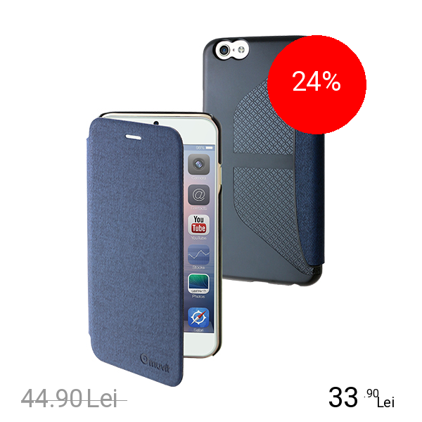 Muvit Husa Agenda Denim Albastru APPLE iPhone 6, iPhone 6S