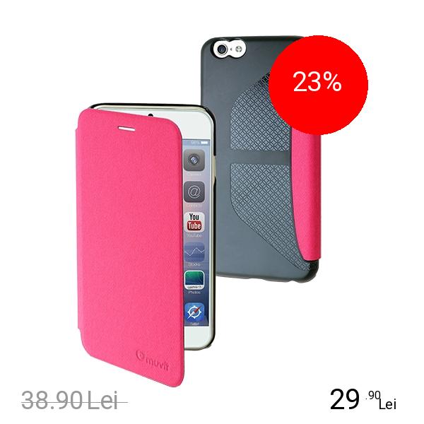 Muvit Husa Agenda Denim Roz APPLE iPhone 6 Plus, iPhone 6s Plus