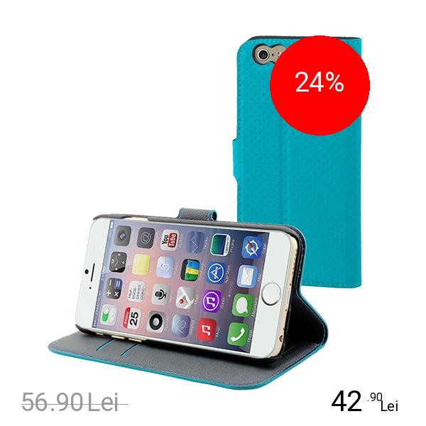 Muvit Husa Agenda Wallet Albastru APPLE iPhone 6 Plus, iPhone 6s Plus