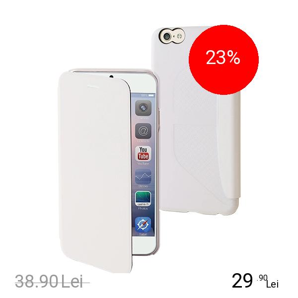Muvit Husa Agenda Alb APPLE iPhone 6 Plus, iPhone 6s Plus