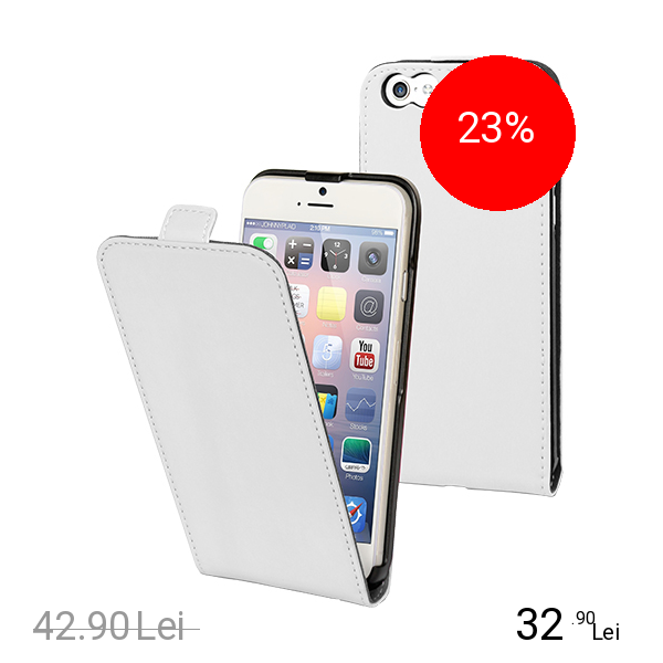 Muvit Husa Flip Slim Alb APPLE iPhone 6, iPhone 6S