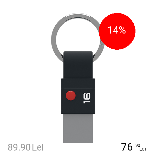 EMTEC Stick USB 16GB Nano Ring T100 Negru