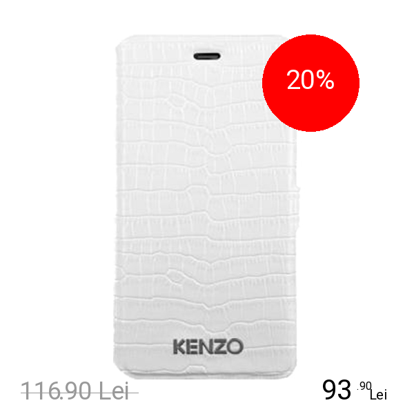 Kenzo Husa Agenda Croco Finish Alb APPLE iPhone 6, iPhone 6S