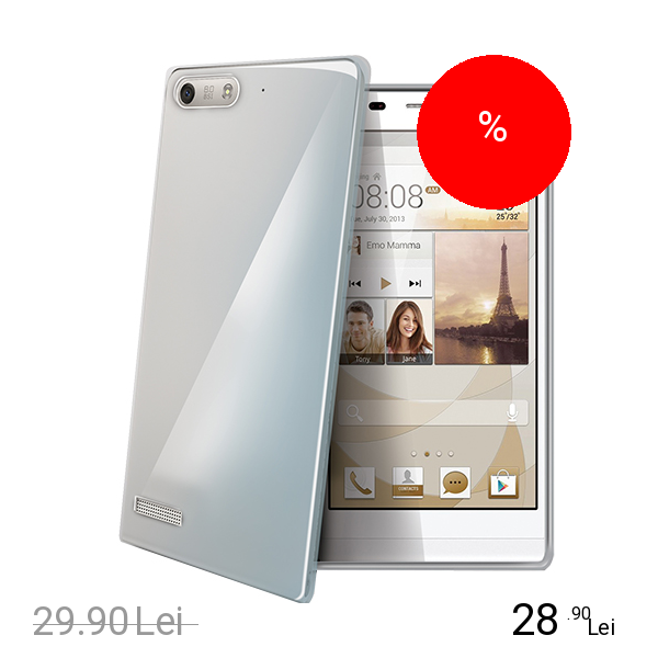 Celly Husa Capac spate Transparent HUAWEI Ascend G6